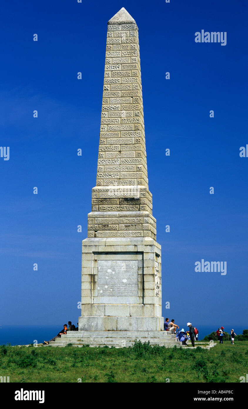 Monument to the memory of The Earl of Yarborough Culver Down - Stock Image