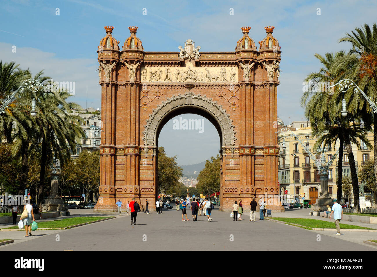 Arc de Triomf, Barcelona, Spain. Built for the 1888 Universal Exhibition. Stock Photo