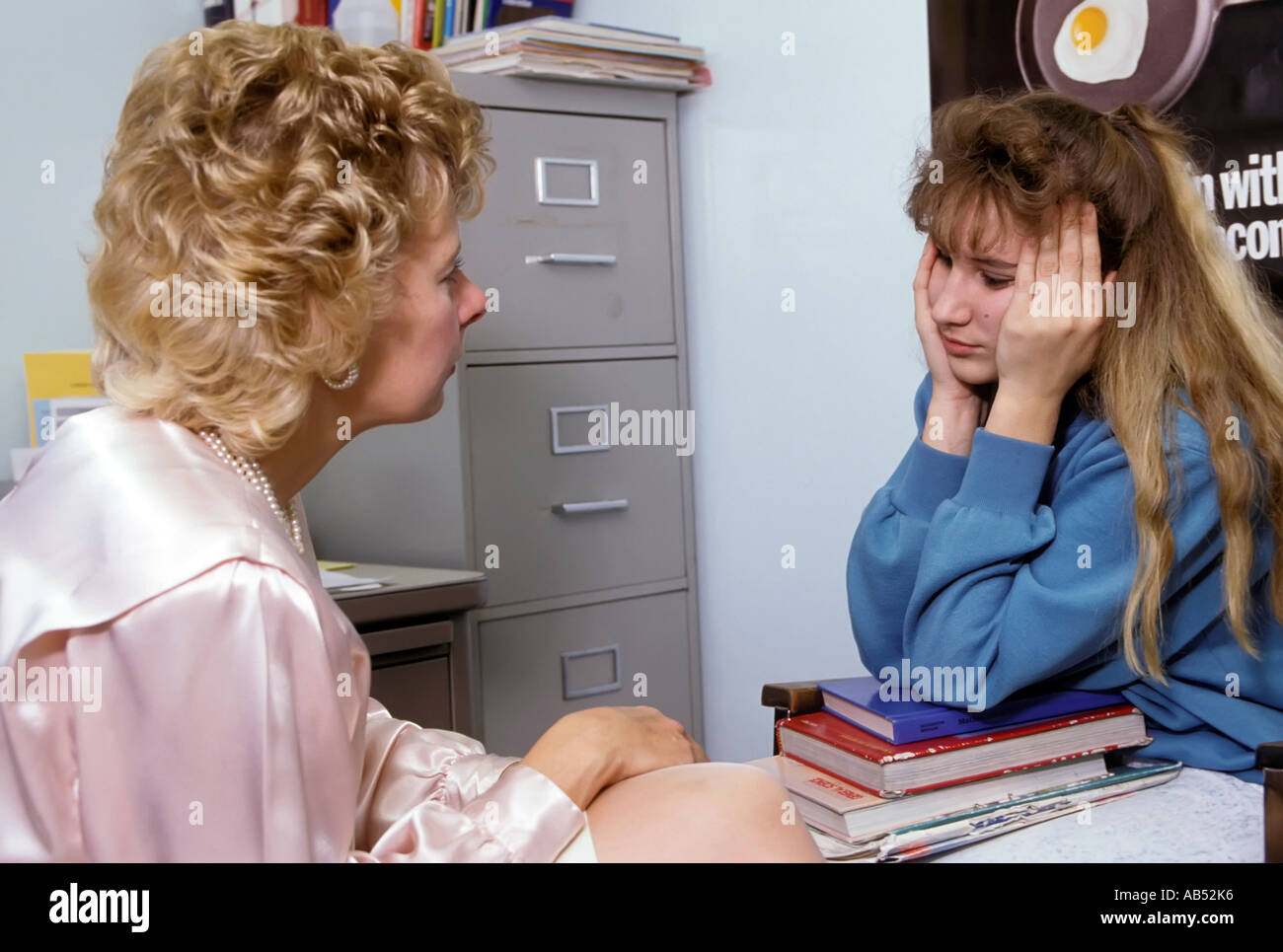 Middle School Guidance Counselor Meets Stock Photos Middle School
