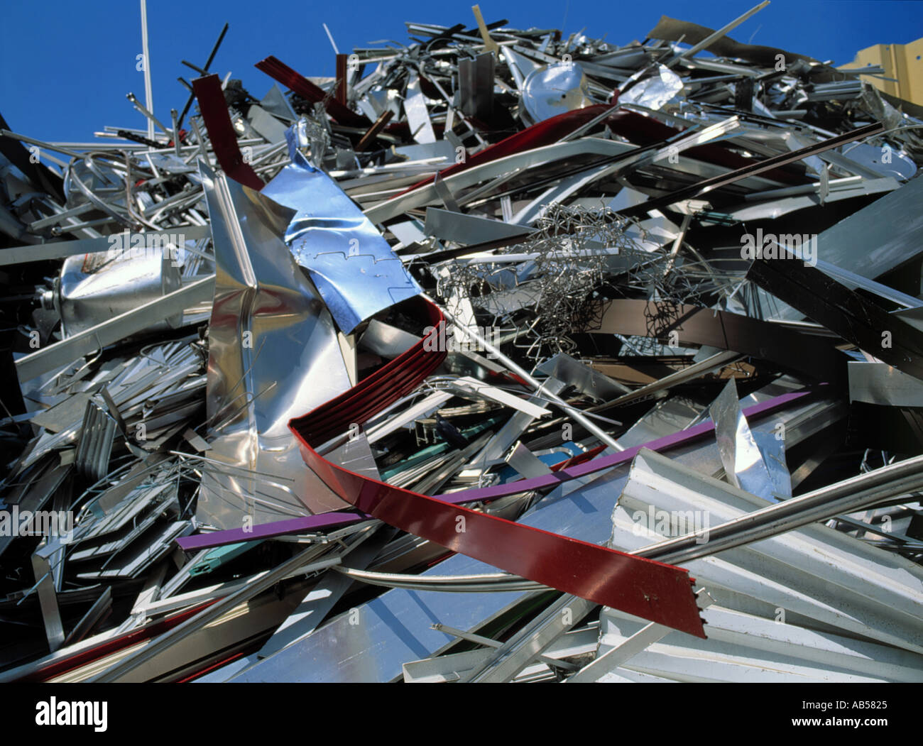 aluminium at scrap yard Stock Photo