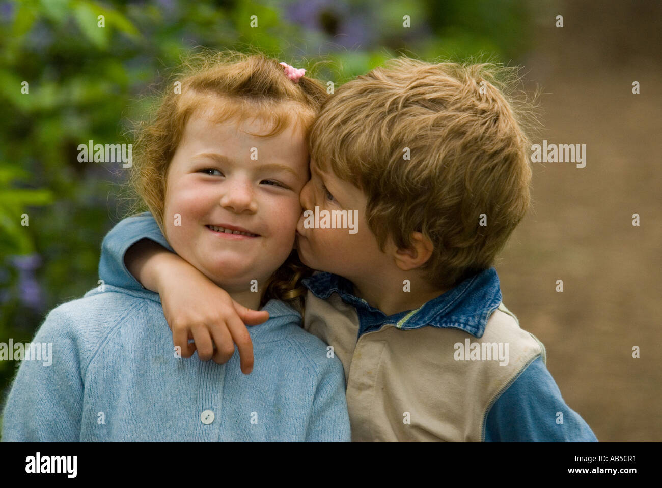 Girlboy Twins Cuddling Each Other Stock Photo 7304816 Alamy