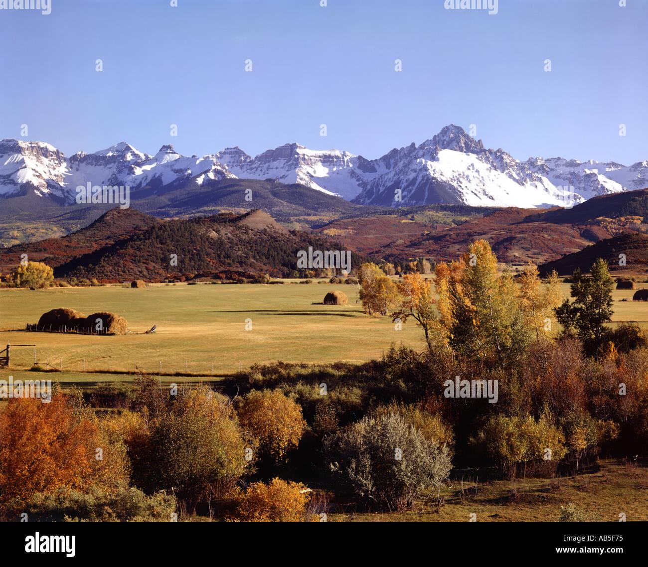 San Juan Mountains Near Montrose Colorado USA During Fall