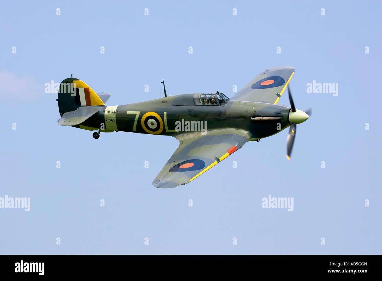 A veteran Hawker Sea Hurricane of the Royal Navy - Stock Image