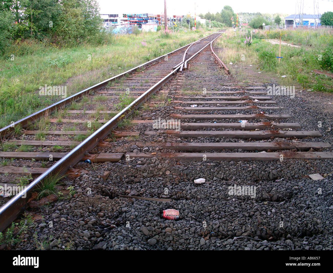 dismantled railroad - Stock Image