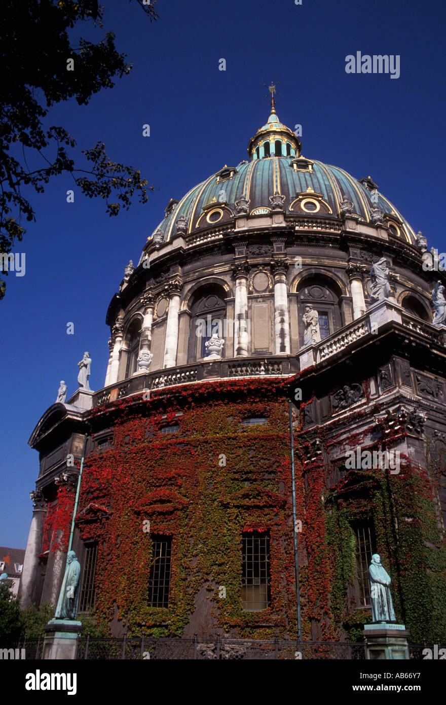 Frederick's Marble Church, Frederikskirken, Protestant church, Christian church, Copenhagen, Denmark, Europe - Stock Image