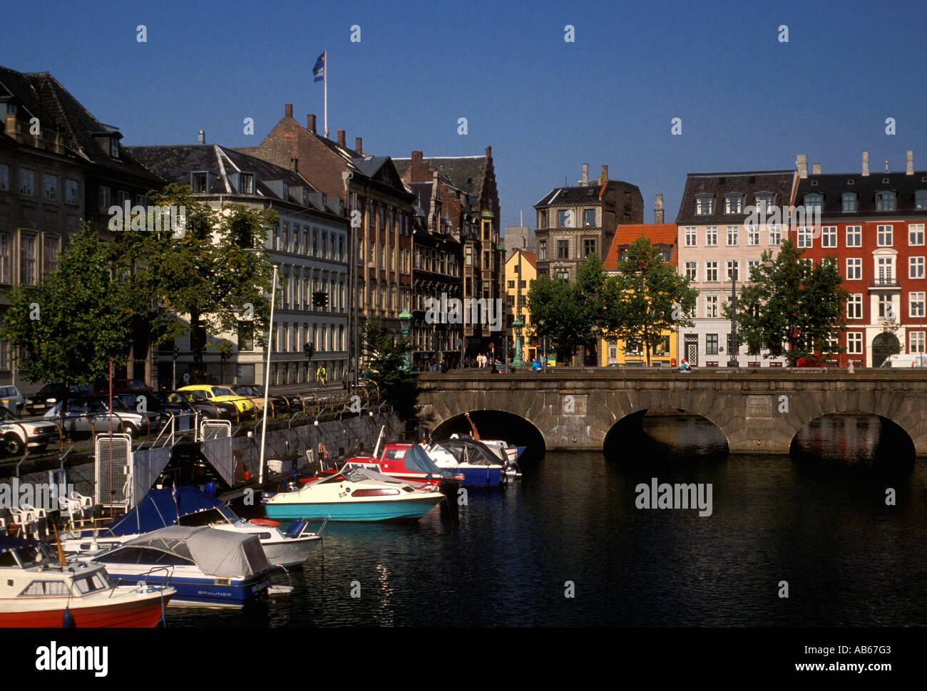 Frederiksholms Canal, city of Copenhagen, Copenhagen, Denmark, Europe - Stock Image