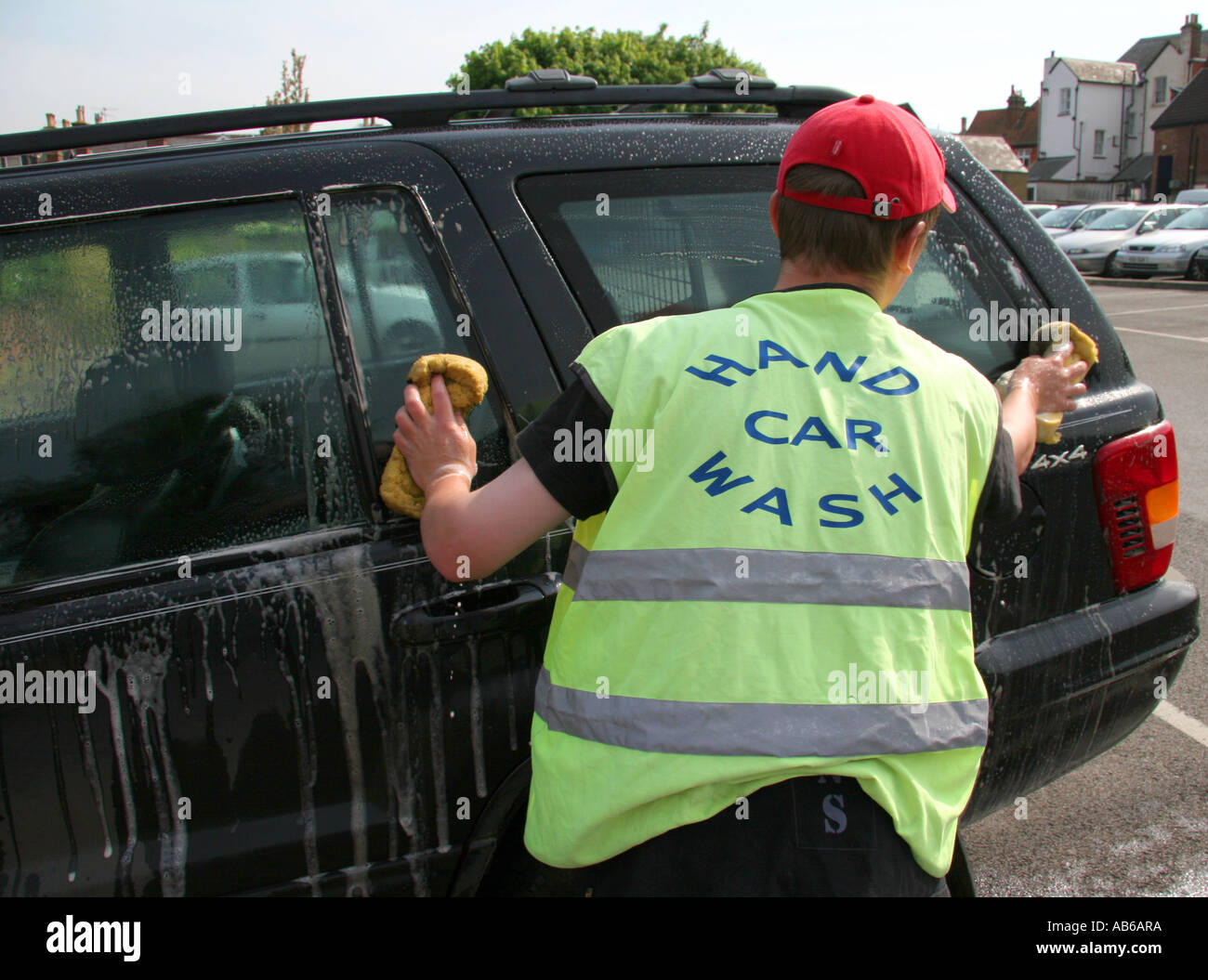 hand car wash - Stock Image