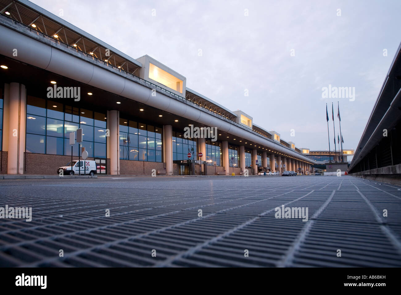 Malpensa international airport arrivals terminal, Milano, Italy - Stock Image