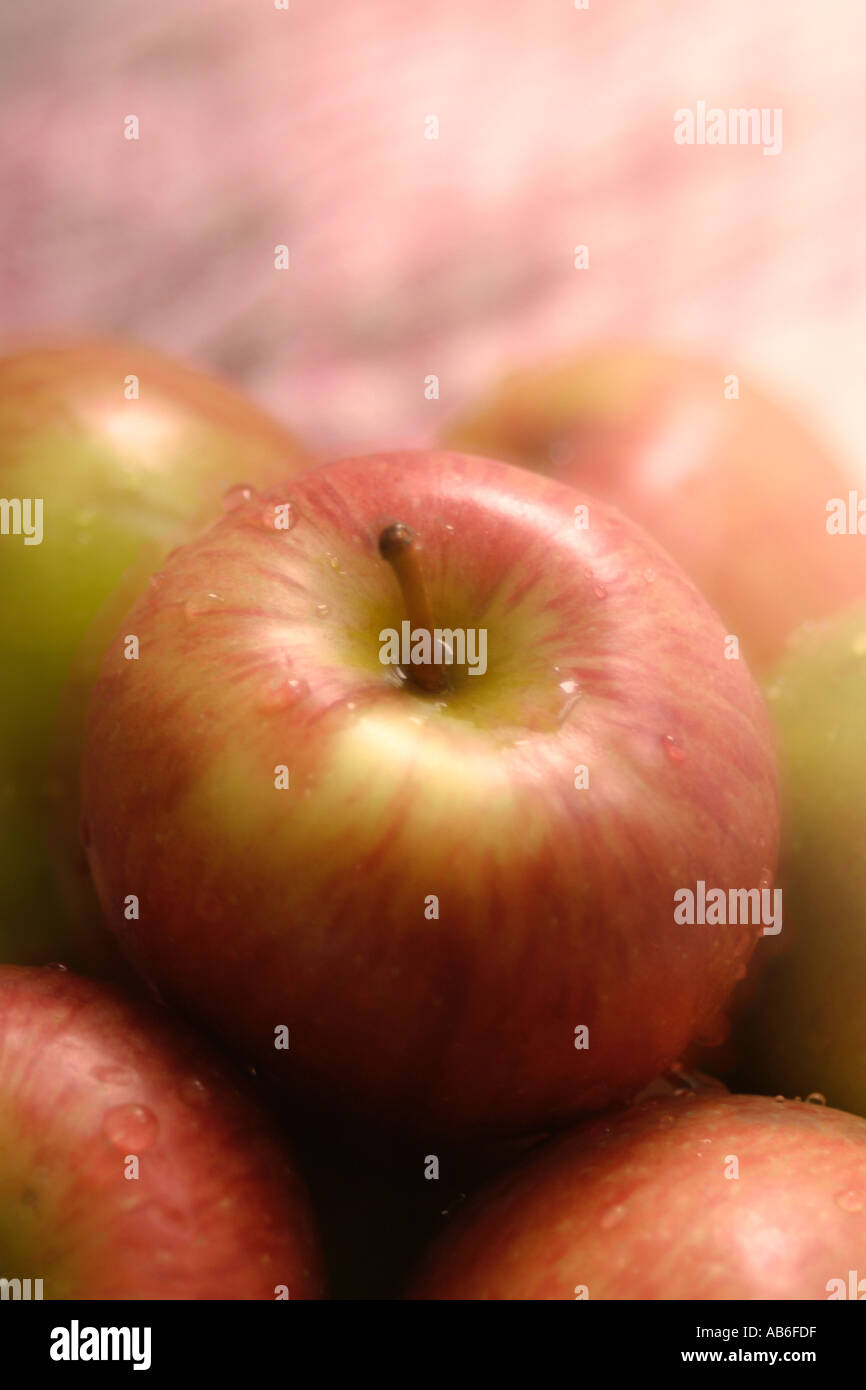 CLOSE UP OF APPLES WITH A SOFT FOCUS EFFECT - Stock Image