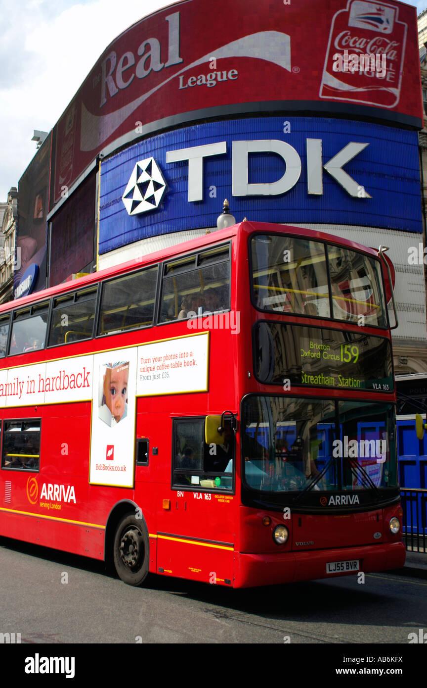 London Bus Picadilly London England UK - Stock Image