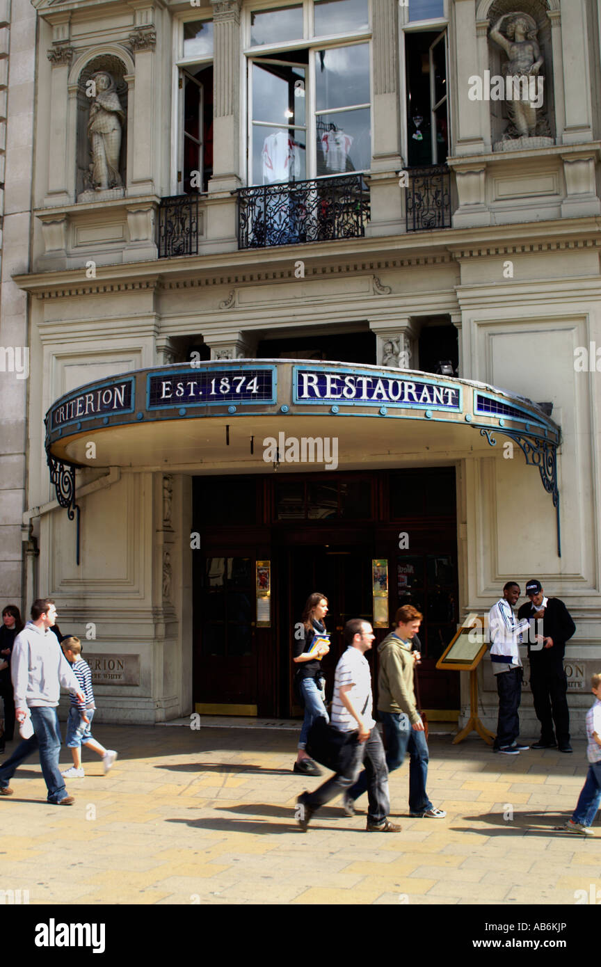 Criterion Restaurant in Picadilly London England UK - Stock Image