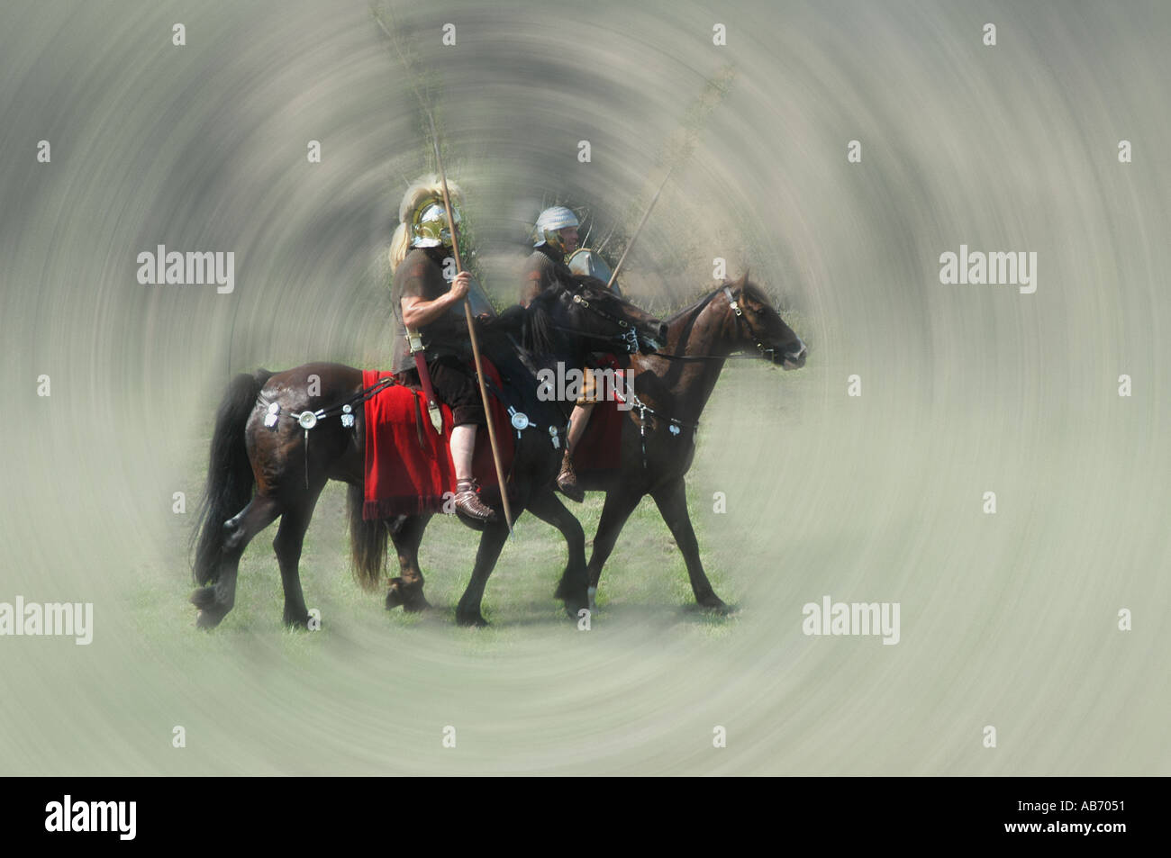 roman cavalry Stock Photo