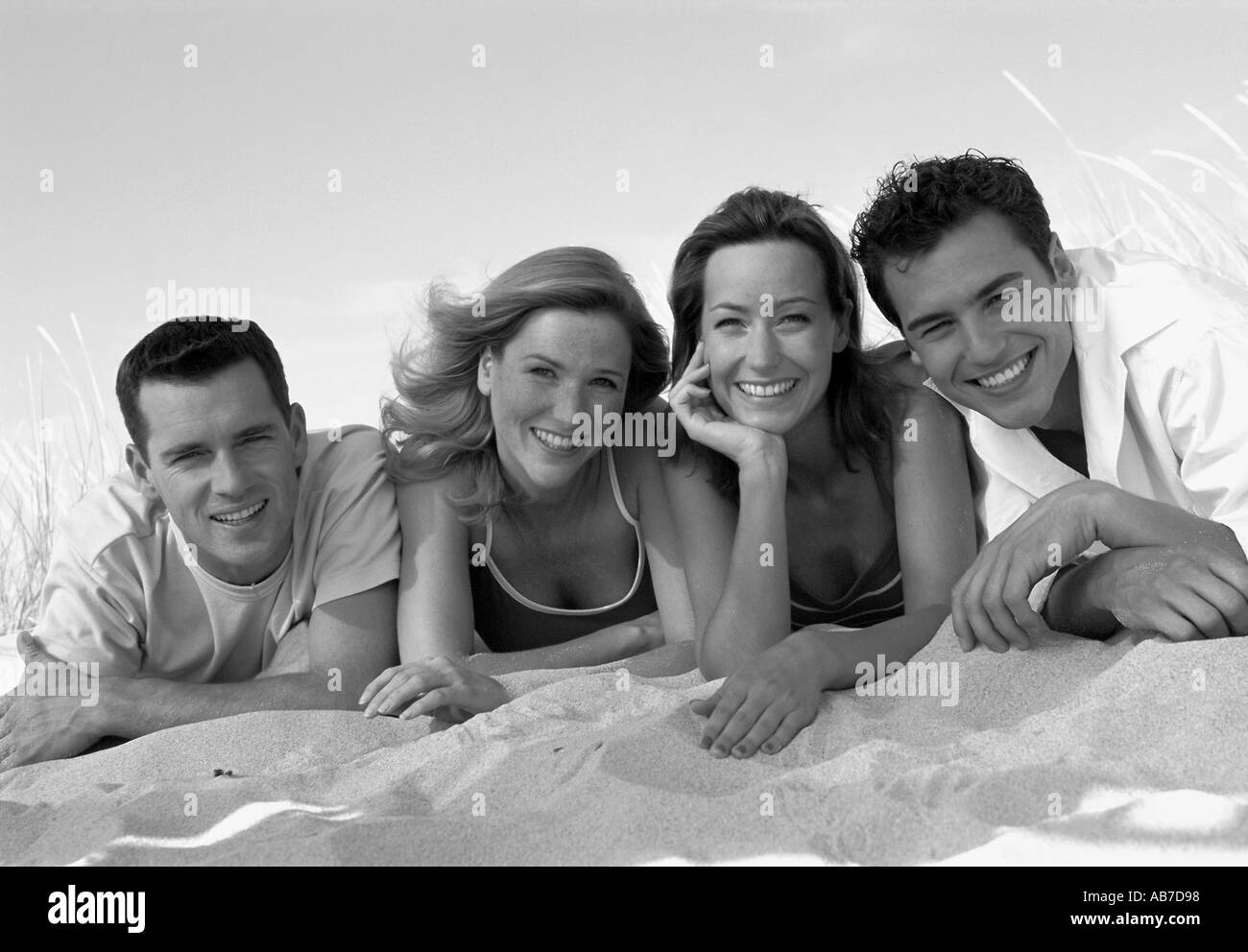 Friends on the beach - Stock Image
