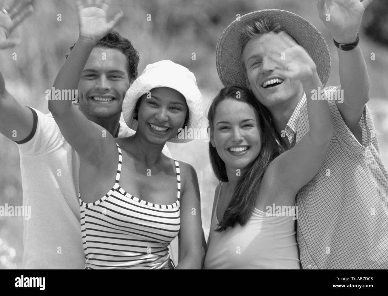 Two couples - Stock Image