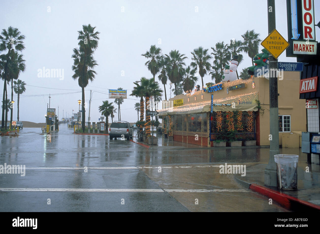1f9b3d0ade2 Winter in Southern California can be wet as seen here in Venice ...
