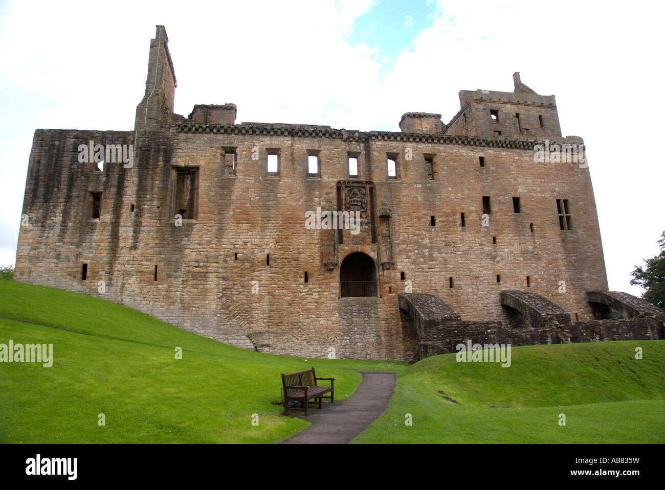 Linlithgow Palace exterior Stock Photo