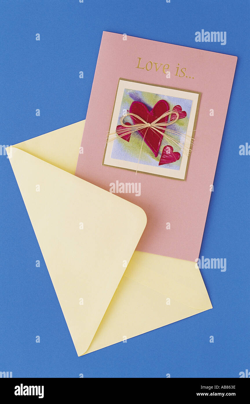 Greeting card - Stock Image