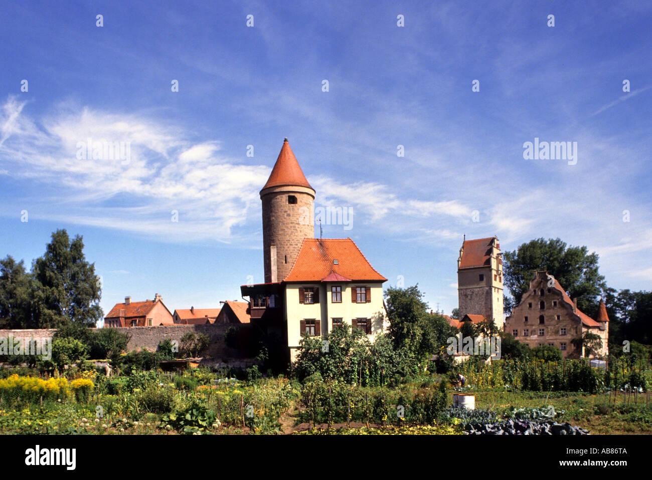 Dinkelsbuhl Germany German Bavaria Middle Ages - Stock Image