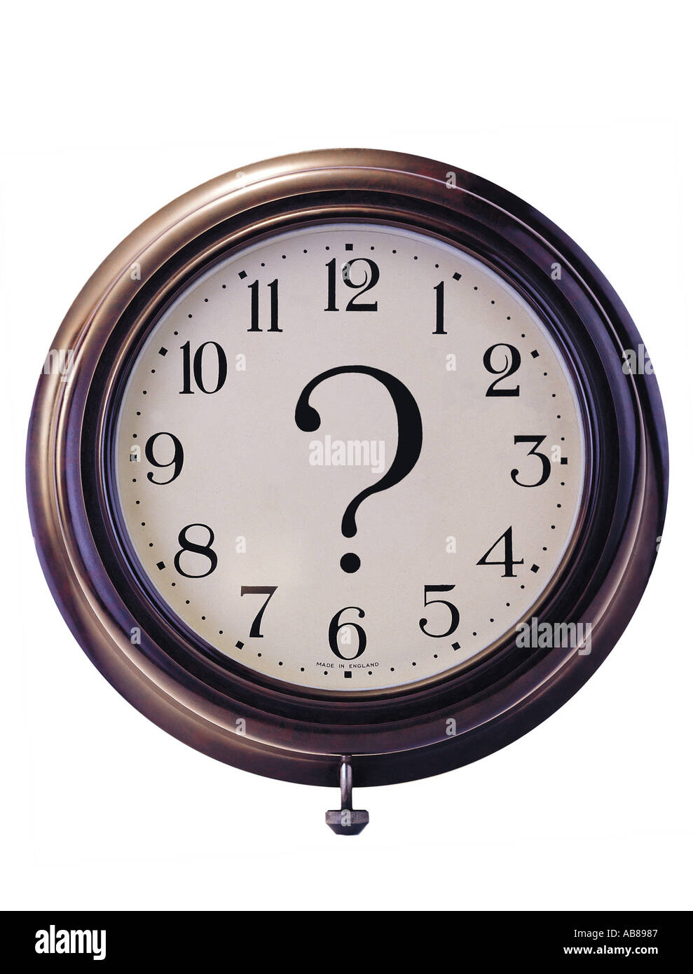 Clock and question mark - Stock Image