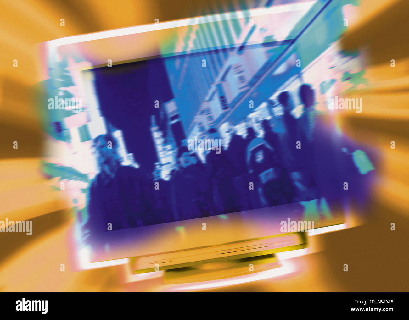 Computer screen - Stock Image