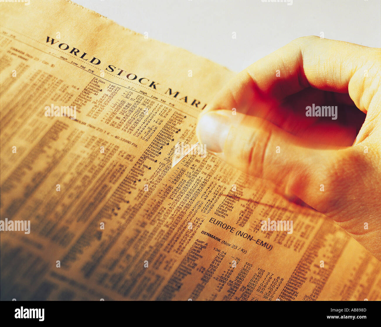 Stock market news - Stock Image