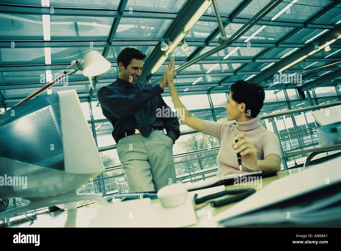 Rejoicing business team - Stock Image
