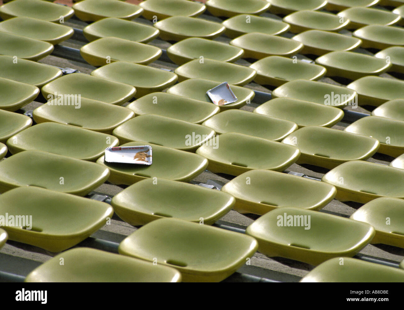 Seats in a stadium - Stock Image