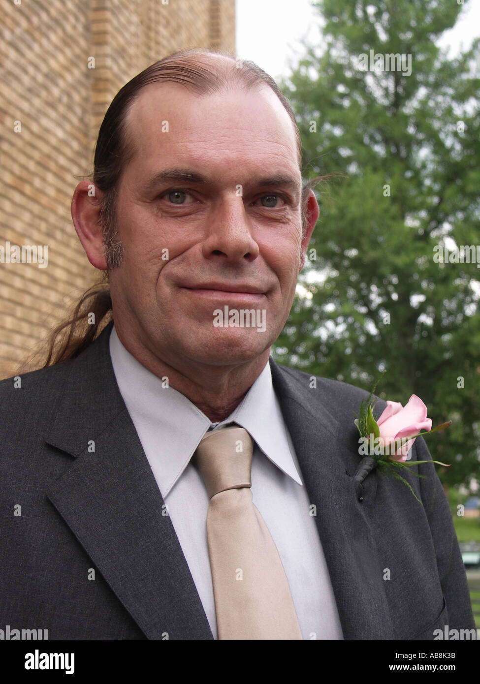 Middle Age Man Dressed Up - Stock Image