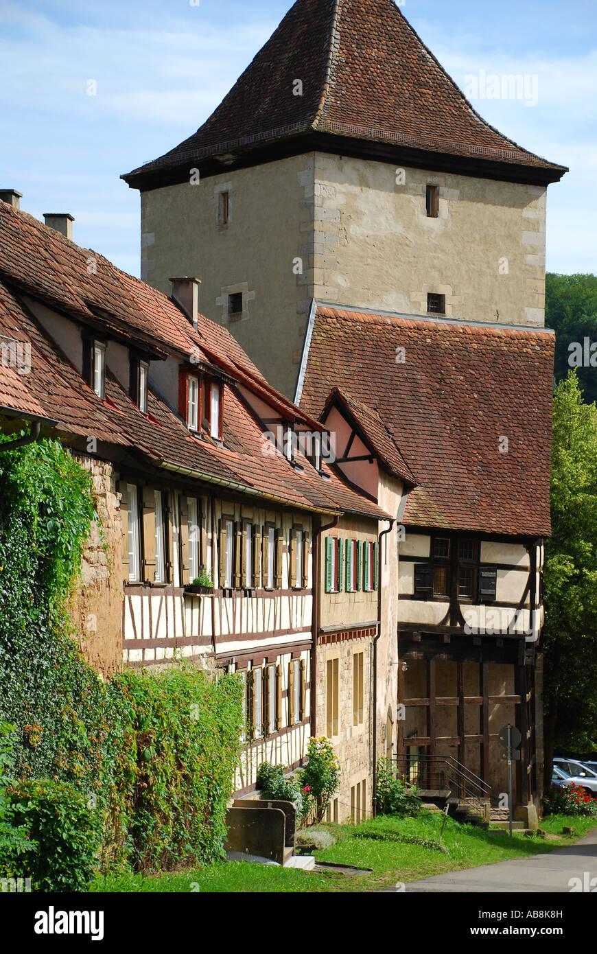 Residential houses on the grounds of the monastery Bebenhausen Tuebingen Baden Wuerttemberg Germany Stock Photo
