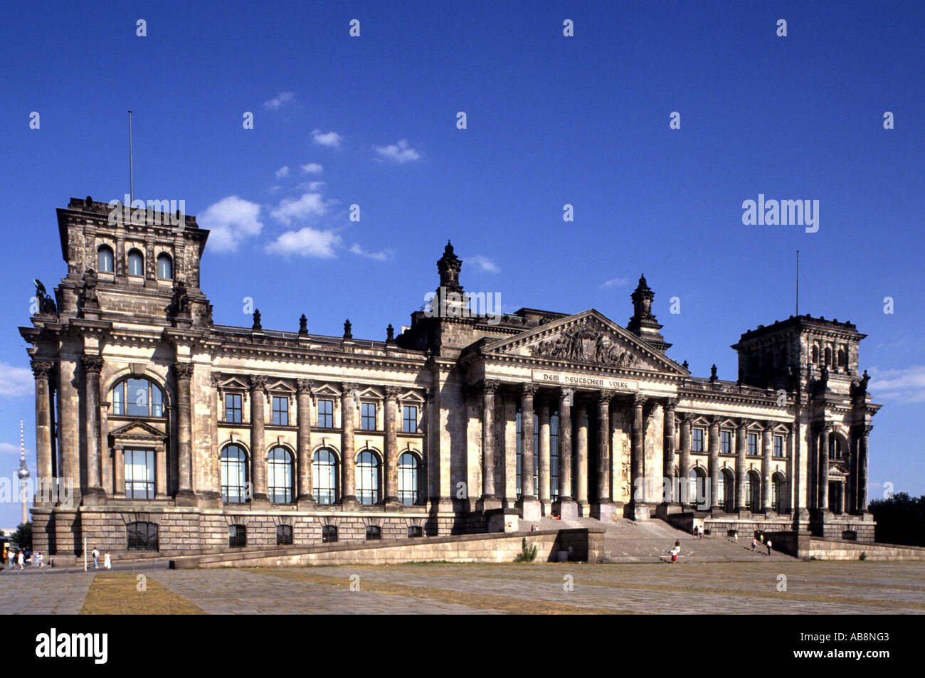 Germany Berlin Town City old German Reichstag 1980 Stock Photo