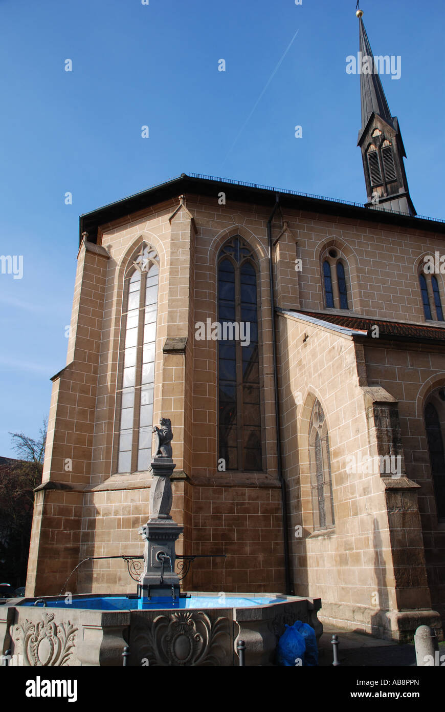 Romanesque cathedral St. Paul Esslingen am Neckar Baden Wuerttemberg Germany Stock Photo