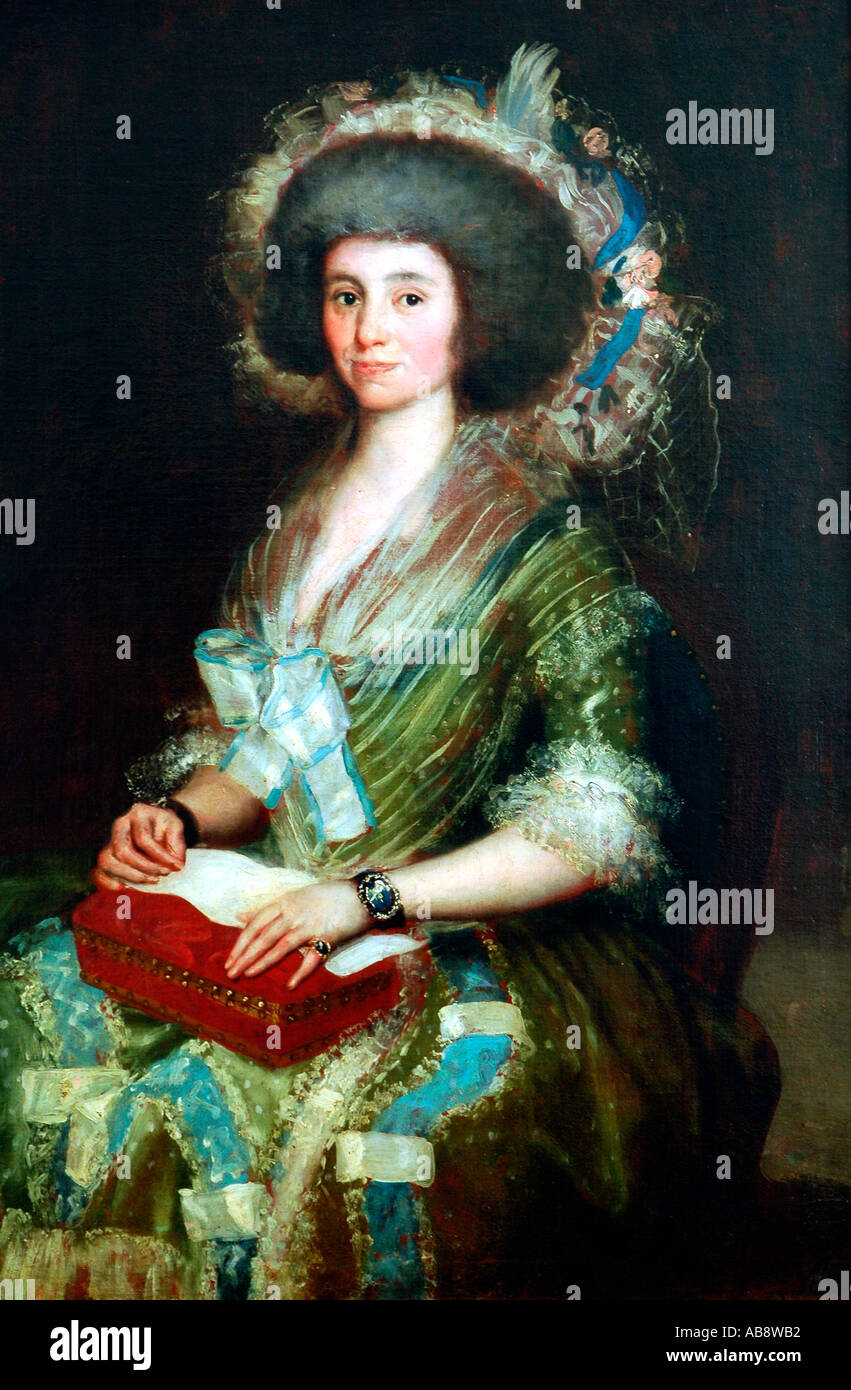 Oil painting by Spanish painter and printmaker Francisco de Goya - Stock Image