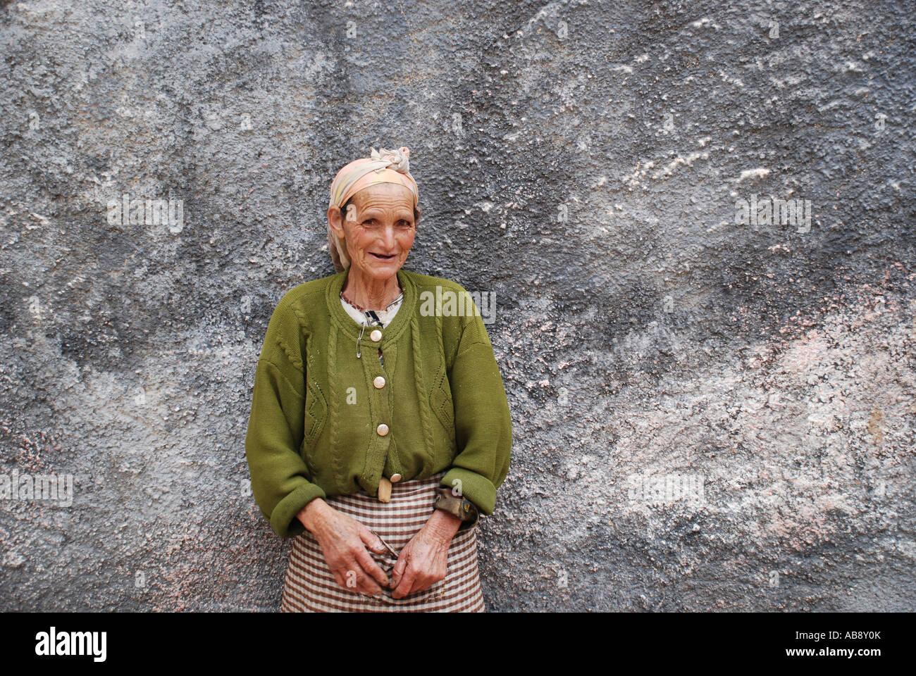 Portrait peasant women Bhalil Morocco - Stock Image