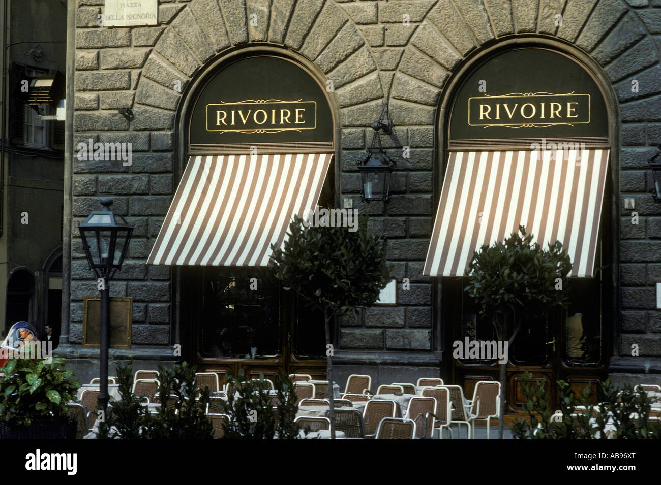 Florence Italy Italian Square Outdoor Restaurant Awnings
