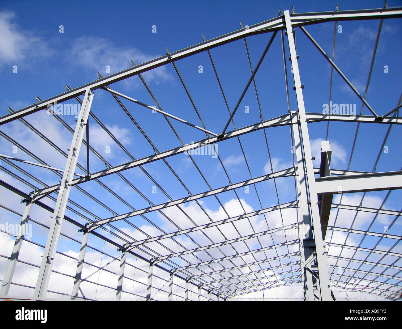 Steel portal frame building during construction Stock Photo: 7326962 ...