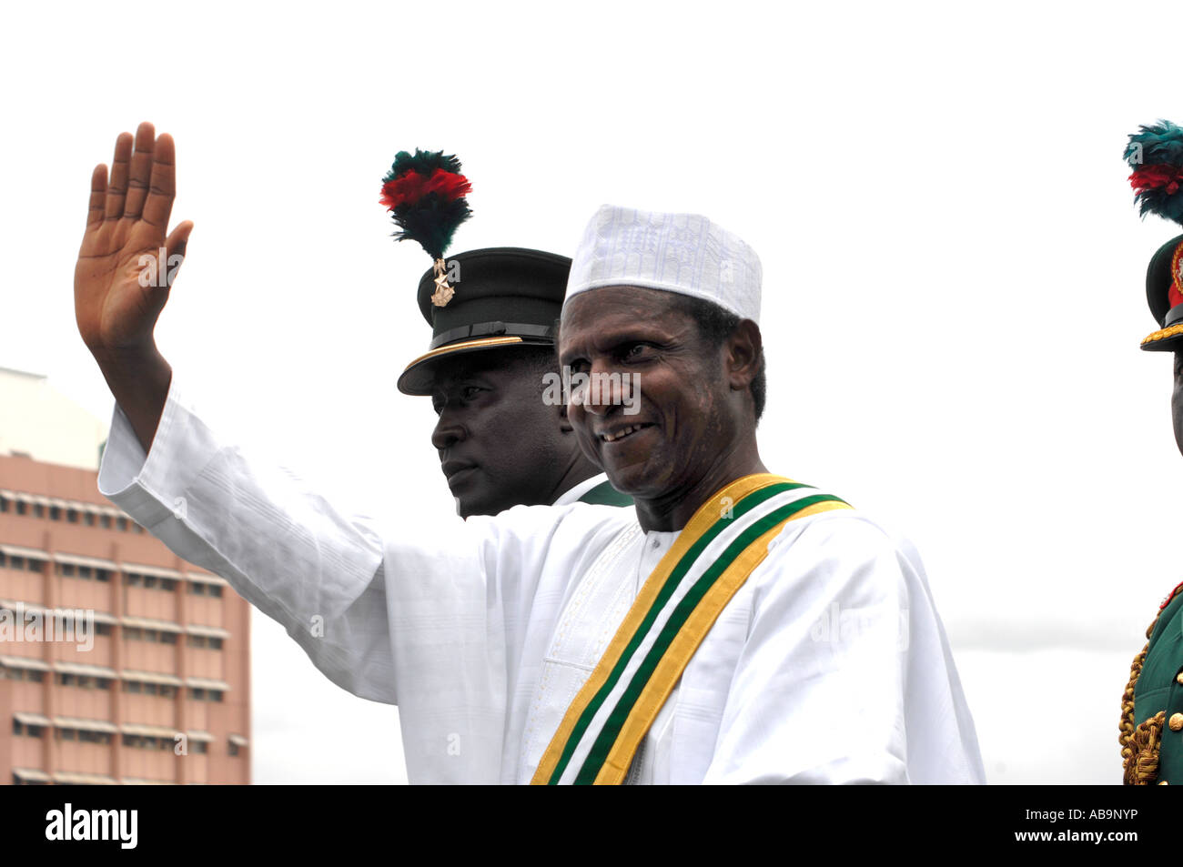 Umaru Musa Yar Adua on the day of his inauguration as the new President of Nigeria - Stock Image