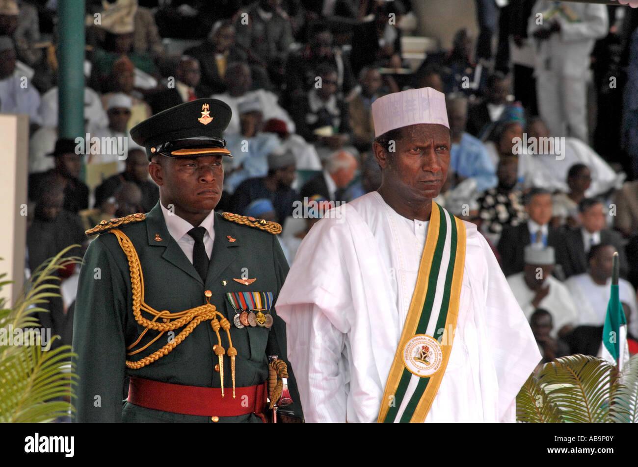 Inauguration of Umaru Musa Yar Adua as the new President of Nigeria Abuja 29 May 2007. - Stock Image