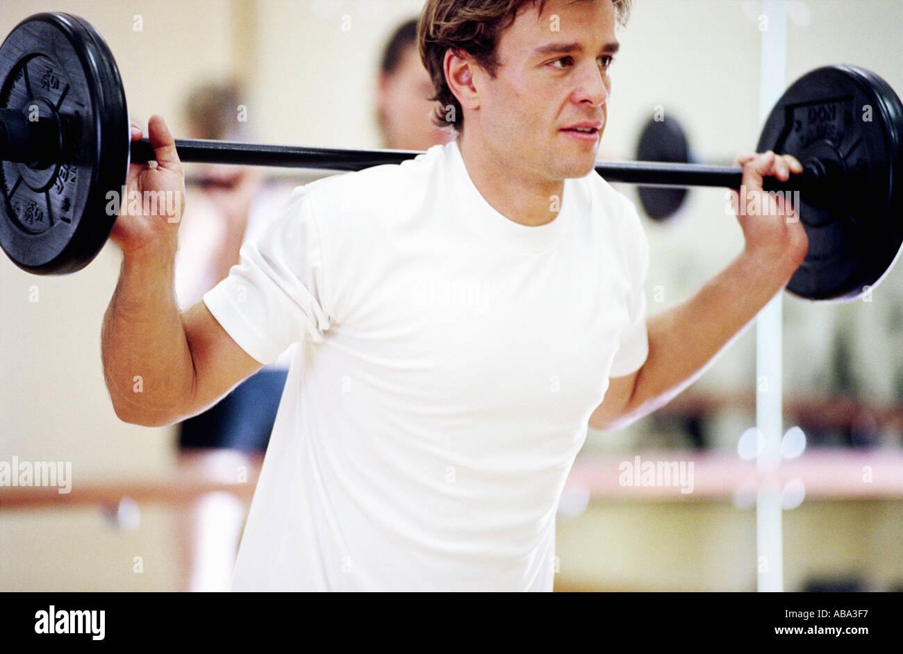 Man weight lifting - Stock Image