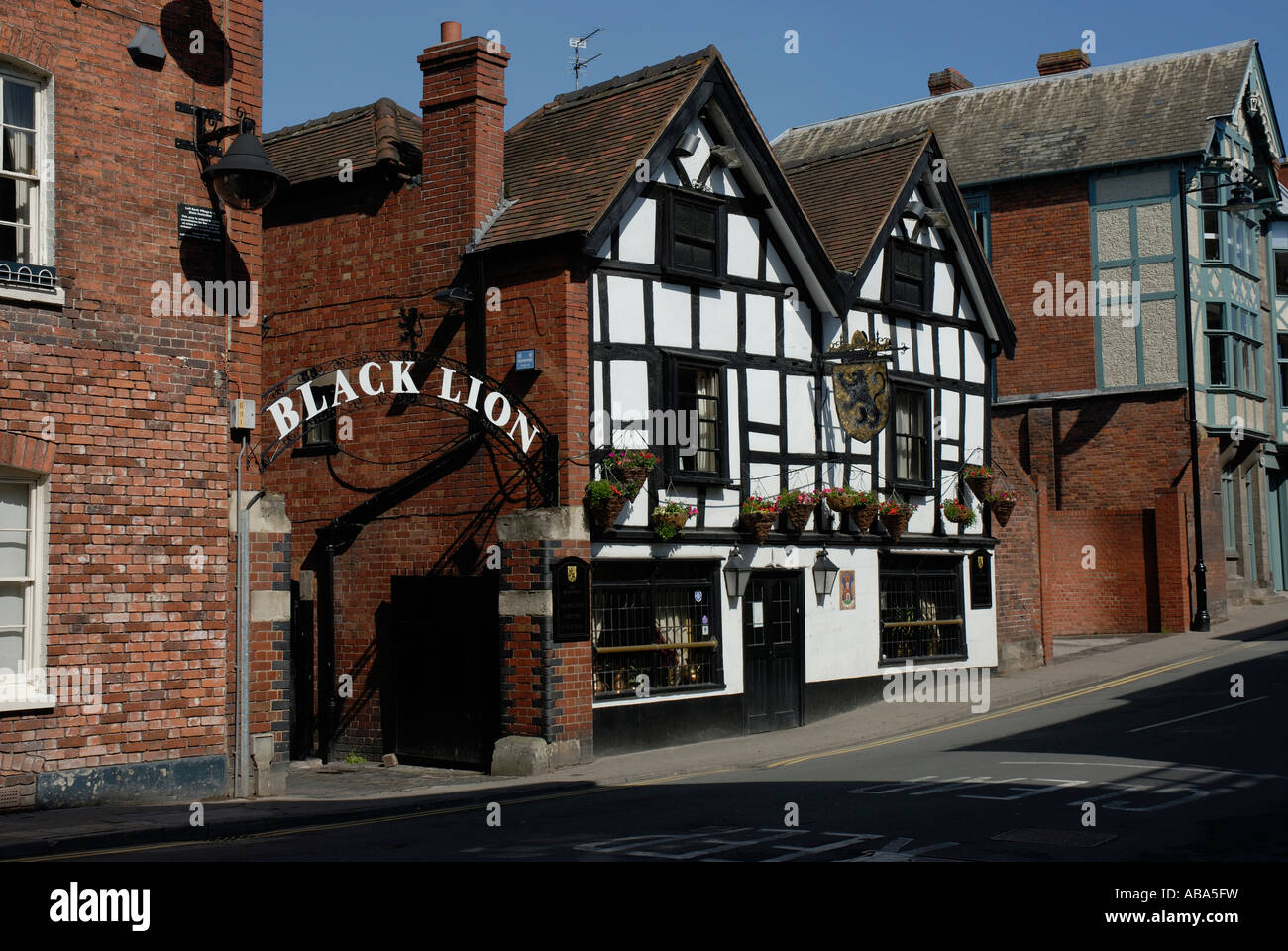 The Black Lion public house, Hereford. - Stock Image