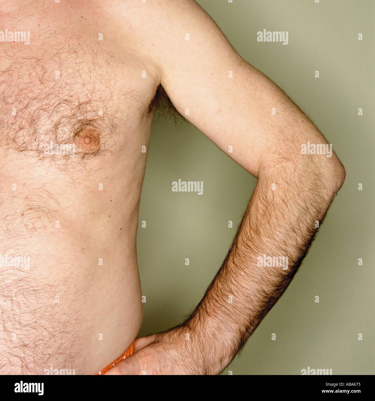 Male abdomen - Stock Image