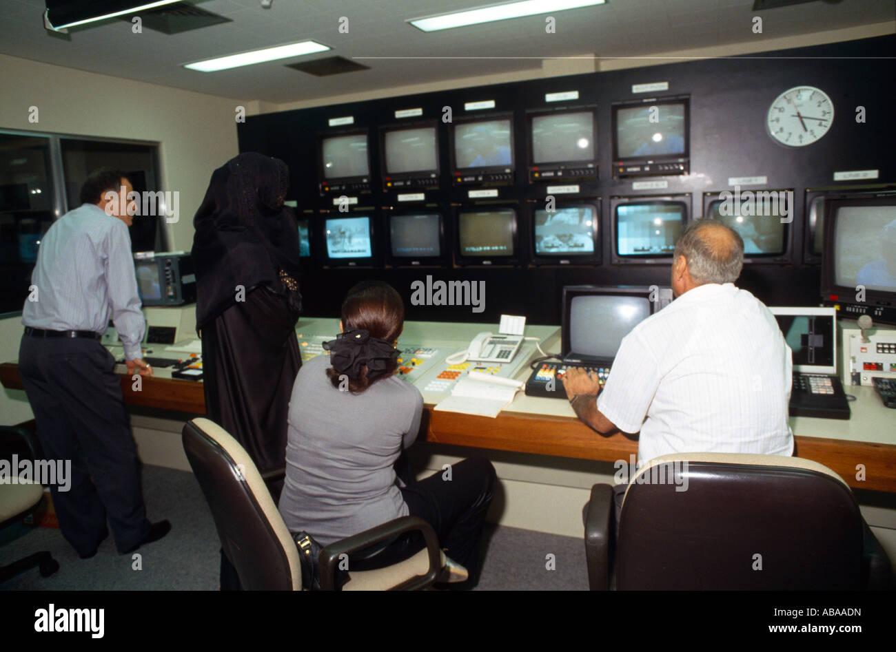 Dubai UAE Television Satellite Channel Control Room Stock Photo ...