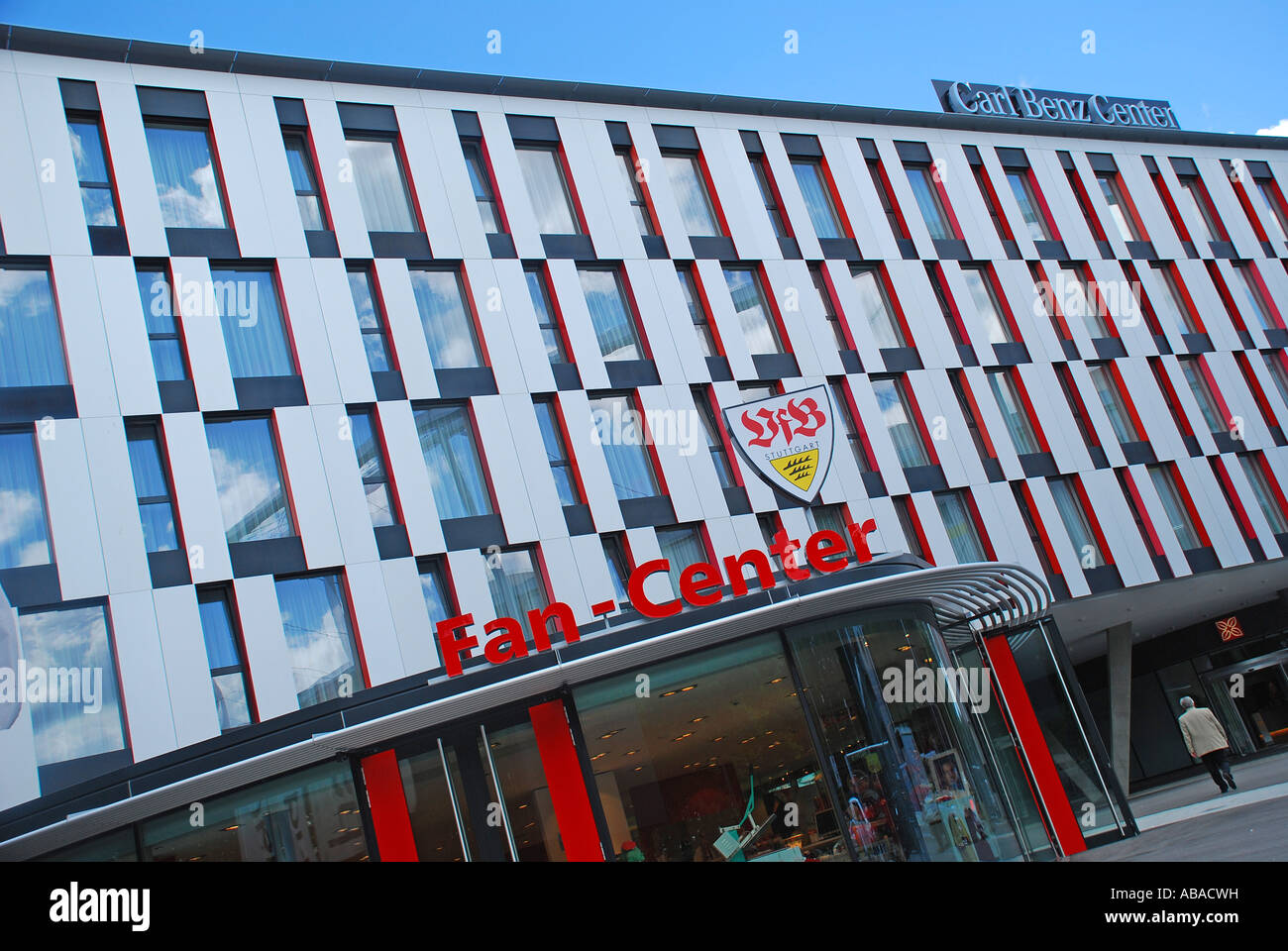 Vfb Fan Center im Carl Benz Center Stuttgart Baden Württemberg Deutschland - Stock Image