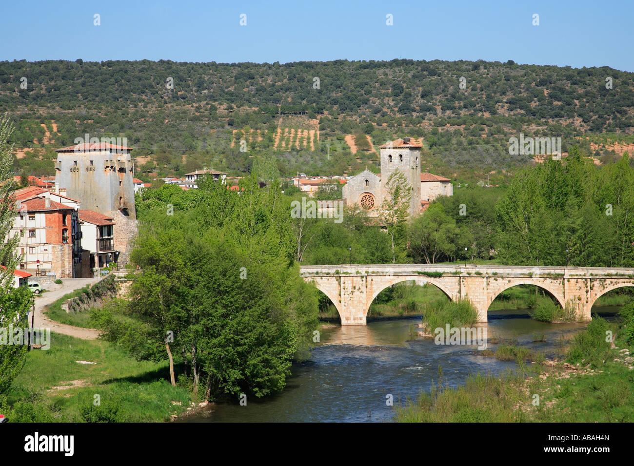 Spain Castilla Leon Covarrubias general view - Stock Image