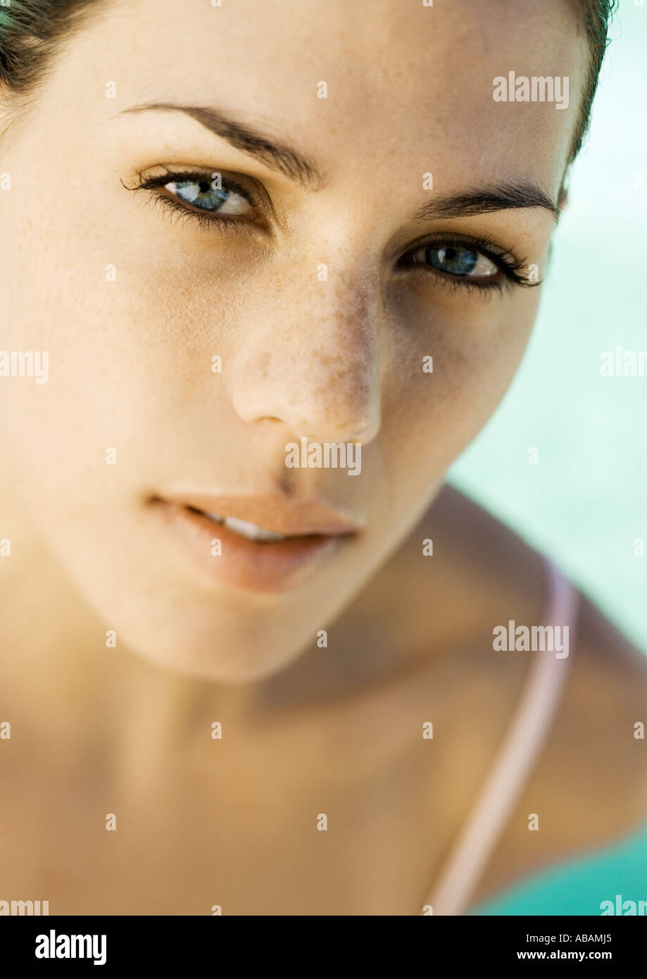 Woman's face - Stock Image