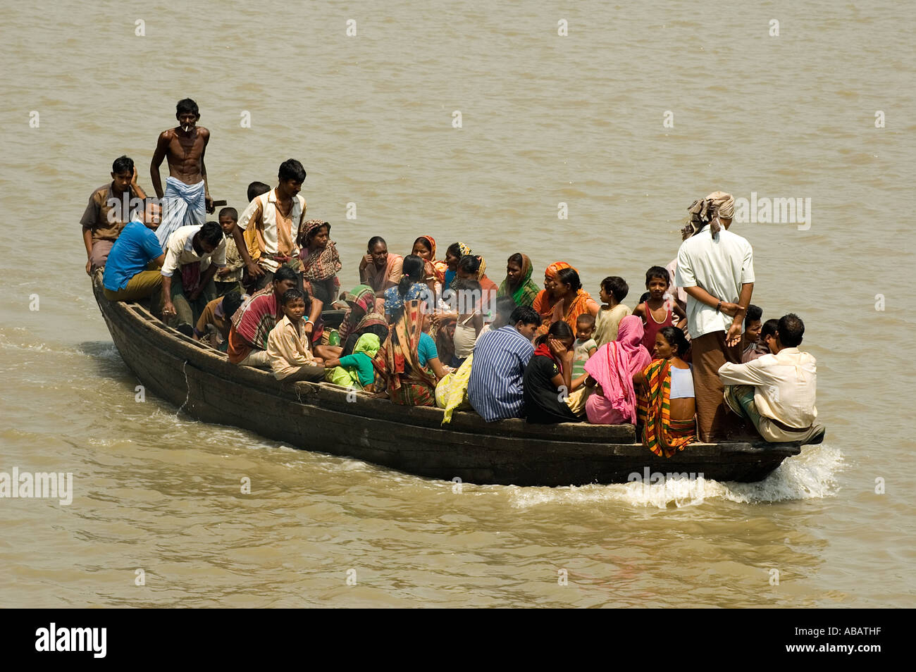 River transportation in small ferry boats in Khulna