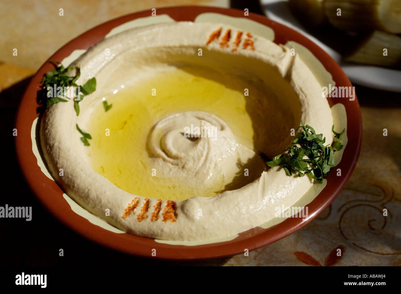 UAE, Dubai, Hummus - Stock Image