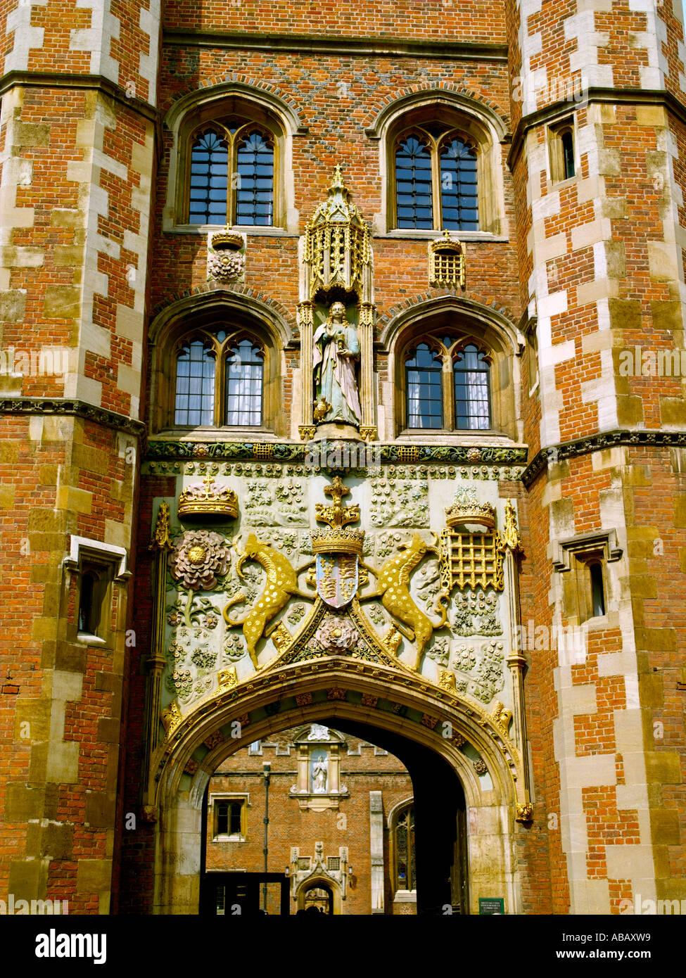 Cambridge, St John's College, Entrance Stock Photo