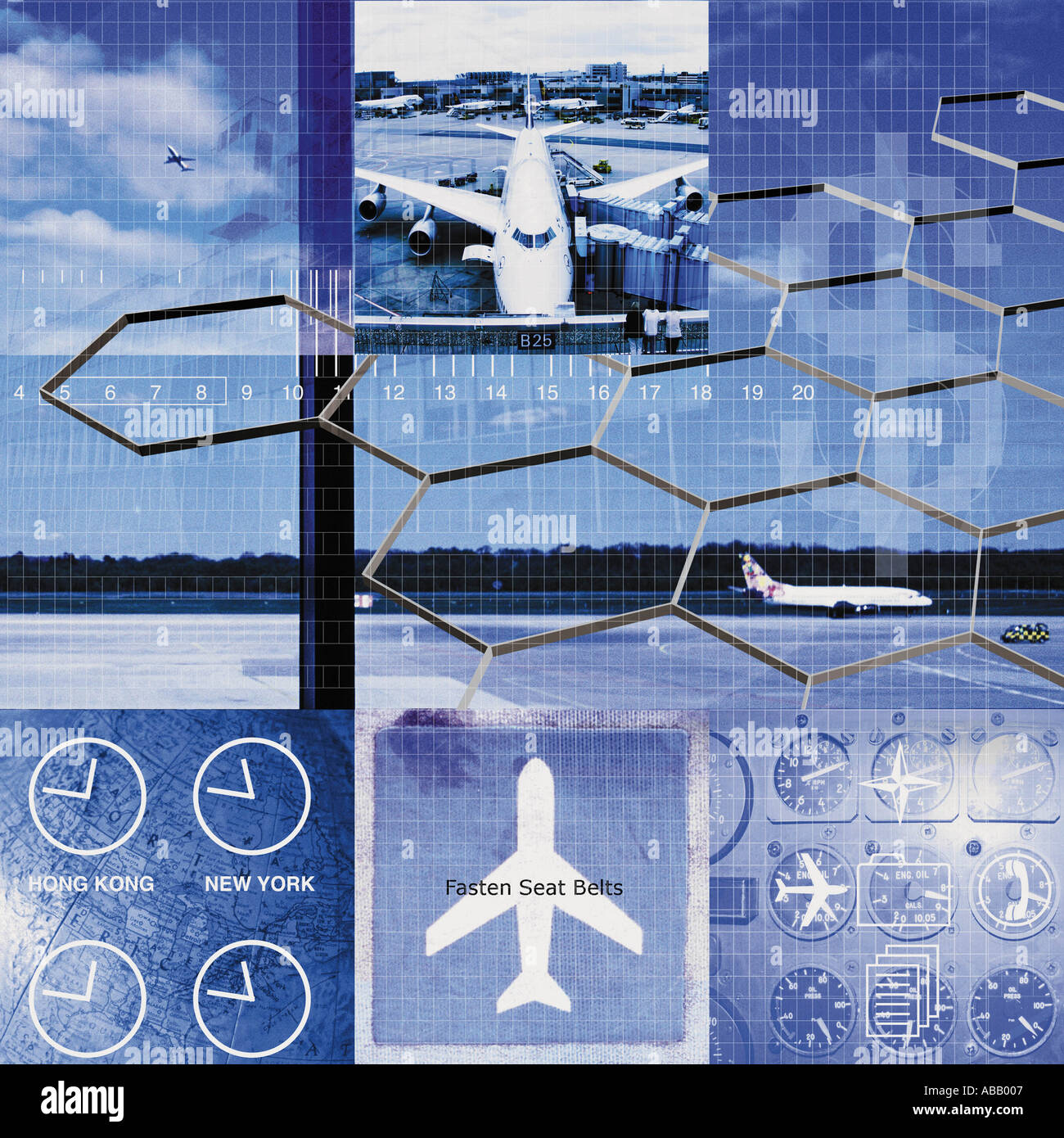 International air travel - Stock Image
