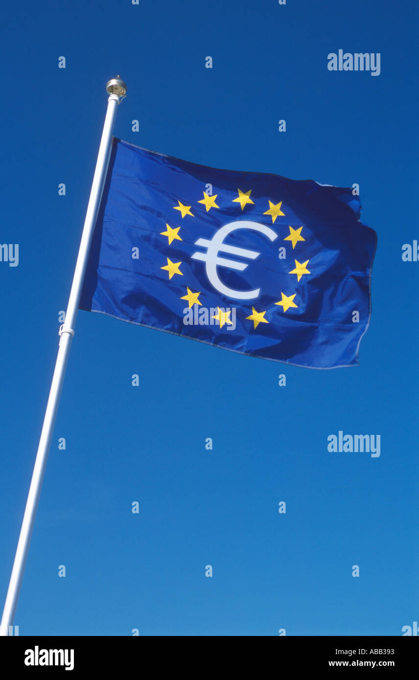 Euro flag - Stock Image