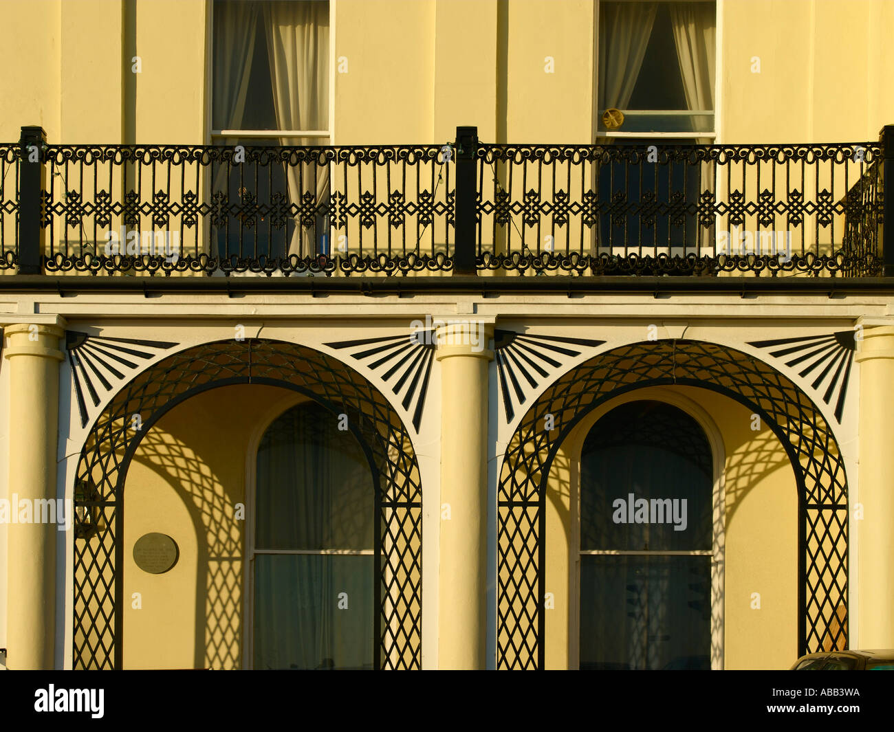 Brighton, Regency Building Detail - Stock Image